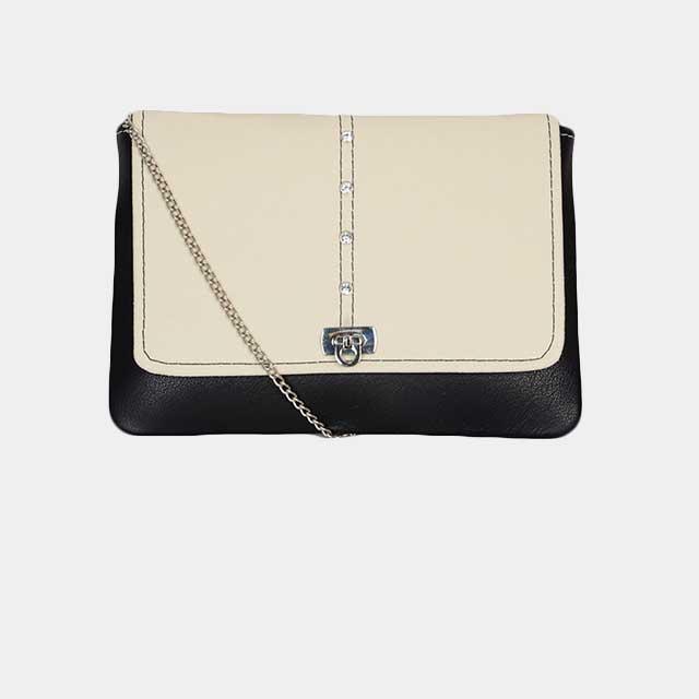Individuell konfiguriarbare Clutch Handtasche mit Runder Klappe