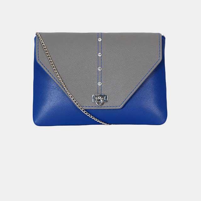 Individuell konfiguriarbare Clutch Handtasche mit Spitzer Klappe